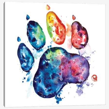 Colorful Cat Canvas Print #LWH155} by Lisa Whitehouse Canvas Artwork