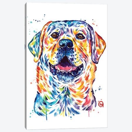 Happy Lab Canvas Print #LWH159} by Lisa Whitehouse Art Print