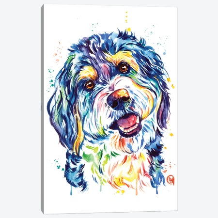 Bernedoodle Canvas Print #LWH166} by Lisa Whitehouse Canvas Print