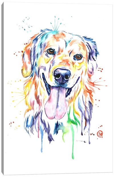 Golden Canvas Art Print