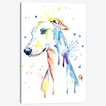 Greyhound Canvas Print #LWH20} by Lisa Whitehouse Canvas Wall Art