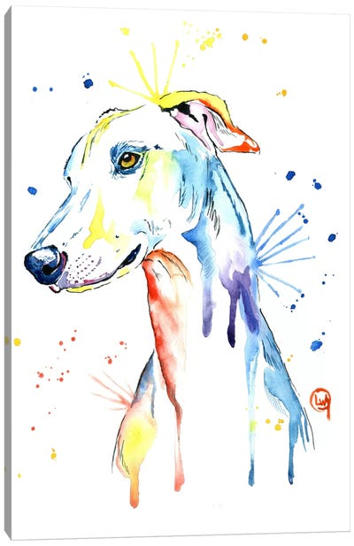 Greyhound Canvas Art Print