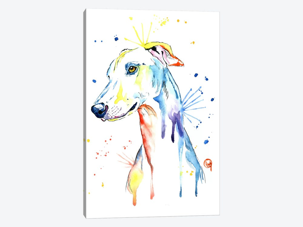 Greyhound by Lisa Whitehouse 1-piece Canvas Art Print