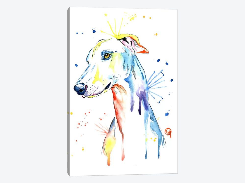 Greyhound by Lisa Whitehouse 1-piece Canvas Art Print