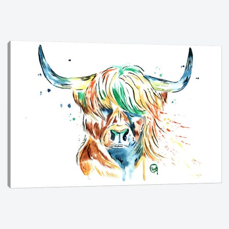 Heilan Coo Canvas Print #LWH23} by Lisa Whitehouse Canvas Wall Art