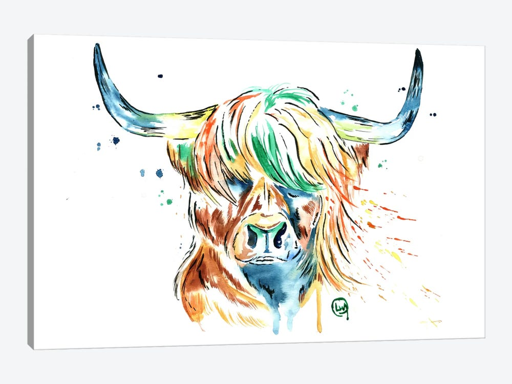 Heilan Coo by Lisa Whitehouse 1-piece Canvas Artwork