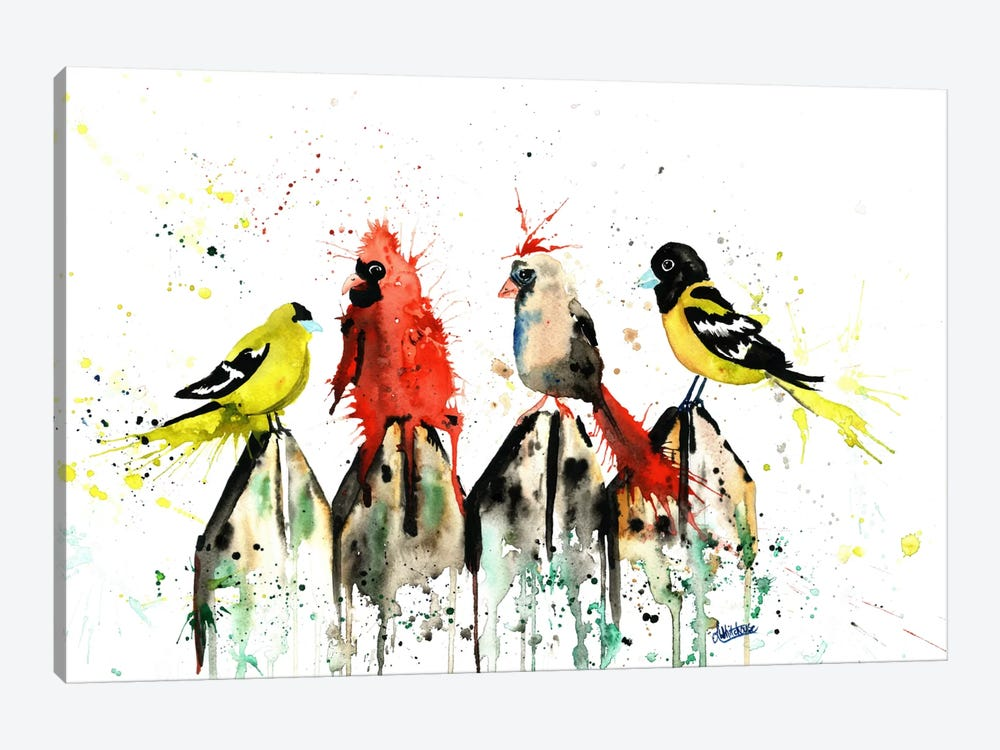 Judgy Birds by Lisa Whitehouse 1-piece Canvas Art