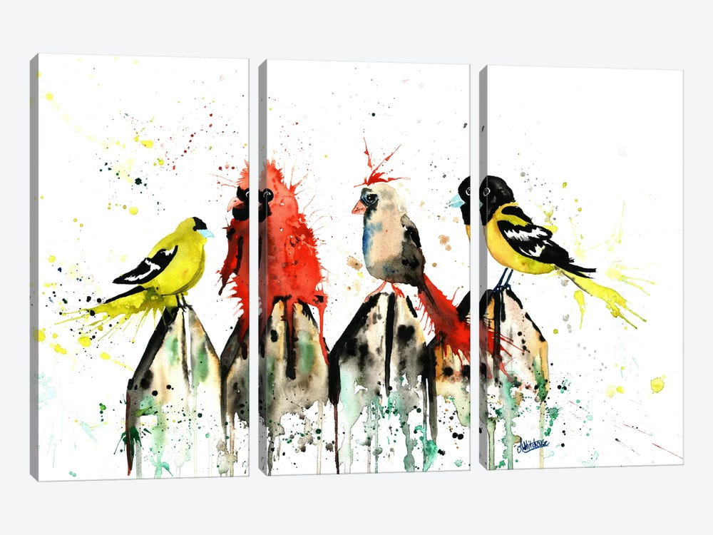 Judgy Birds by Lisa Whitehouse 3-piece Canvas Wall Art