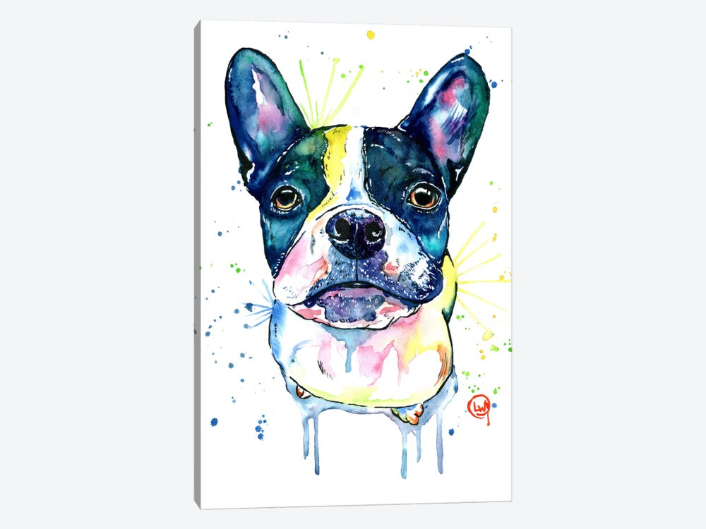 Juno The Frenchton by Lisa Whitehouse 1-piece Canvas Art Print