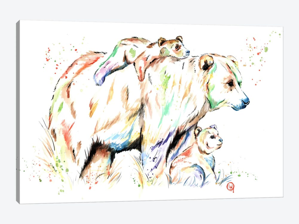 And Then There Were Three by Lisa Whitehouse 1-piece Canvas Artwork