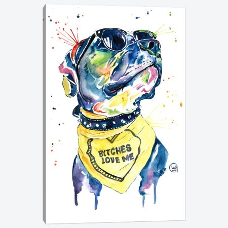 Love-A-Bull Canvas Print #LWH30} by Lisa Whitehouse Art Print