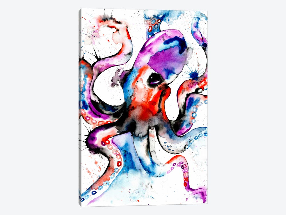 Octopus by Lisa Whitehouse 1-piece Canvas Print