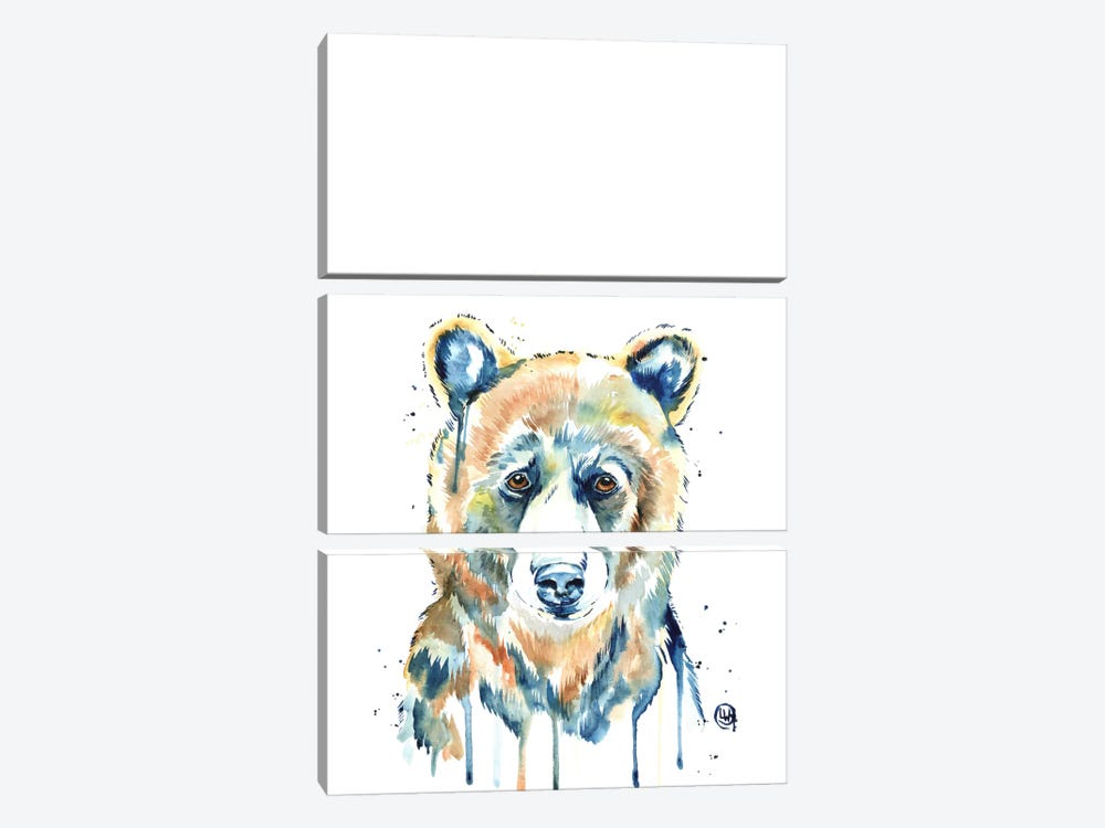 Peekaboo Bear by Lisa Whitehouse 3-piece Canvas Art
