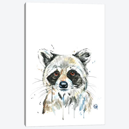 Peekaboo Raccoon Canvas Print #LWH33} by Lisa Whitehouse Canvas Art Print