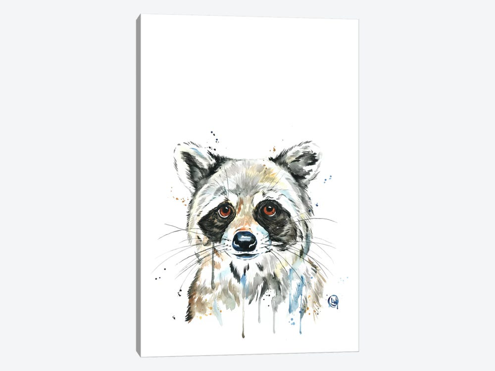 Peekaboo Raccoon by Lisa Whitehouse 1-piece Art Print