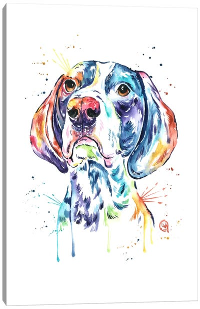 Pointer Canvas Art Print