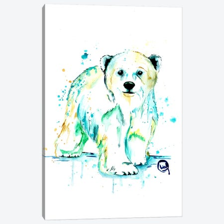 Polar Bear Baby Canvas Print #LWH35} by Lisa Whitehouse Canvas Artwork