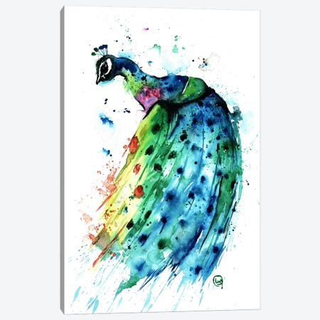 Proud Peacock Canvas Print #LWH36} by Lisa Whitehouse Canvas Wall Art