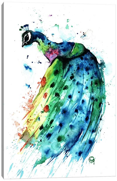Proud Peacock Canvas Art Print
