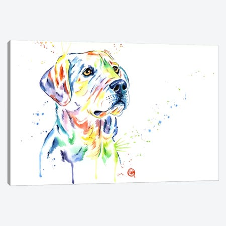 Puppy Star Canvas Print #LWH37} by Lisa Whitehouse Canvas Art