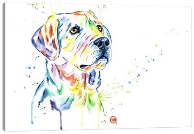 Puppy Star Canvas Art Print