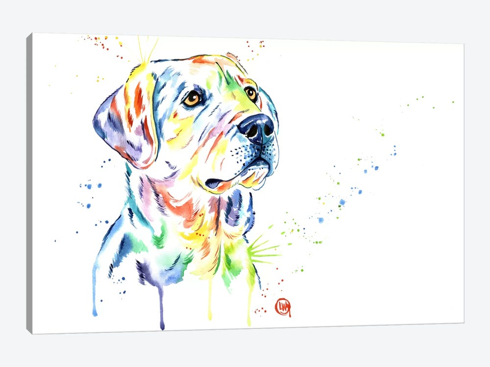 Puppy Star by Lisa Whitehouse 1-piece Canvas Print