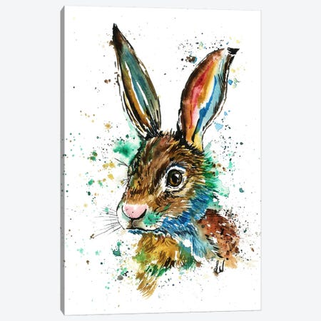 Real Bunny Canvas Print #LWH38} by Lisa Whitehouse Canvas Art Print