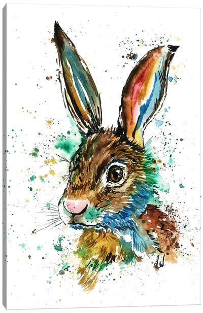 Real Bunny Canvas Art Print