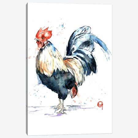Rooster Canvas Print #LWH39} by Lisa Whitehouse Canvas Art Print