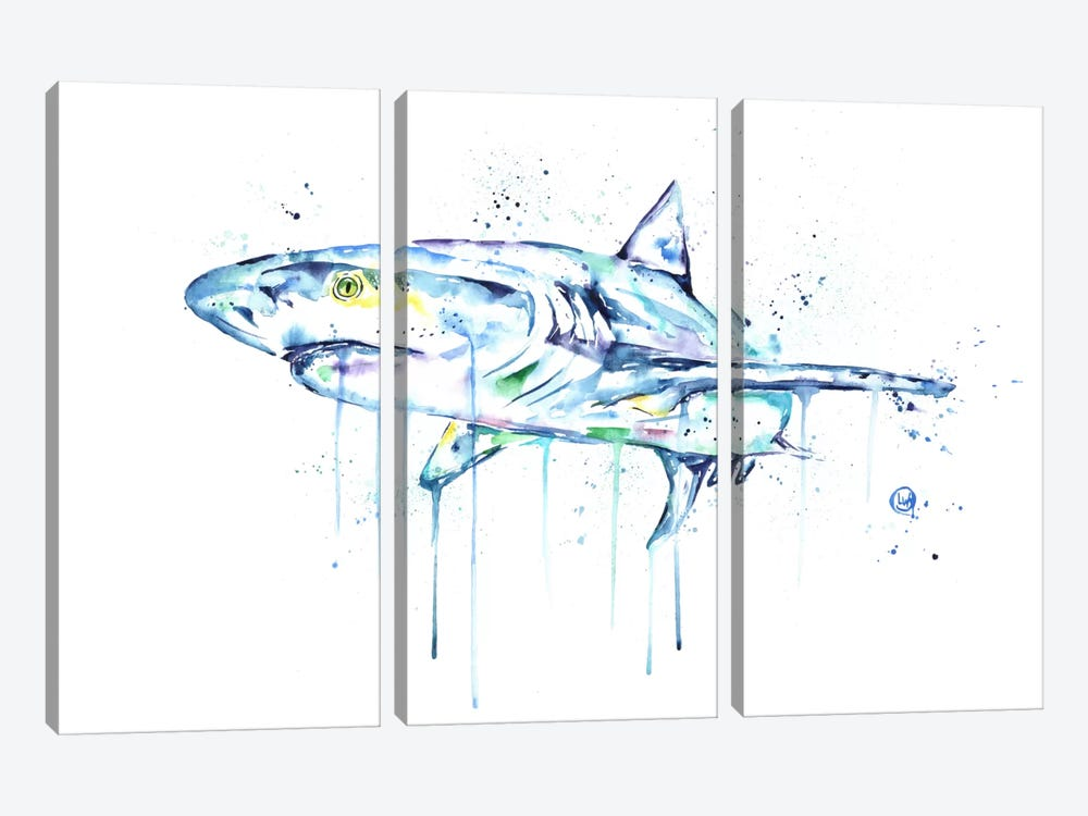 Shark by Lisa Whitehouse 3-piece Canvas Print