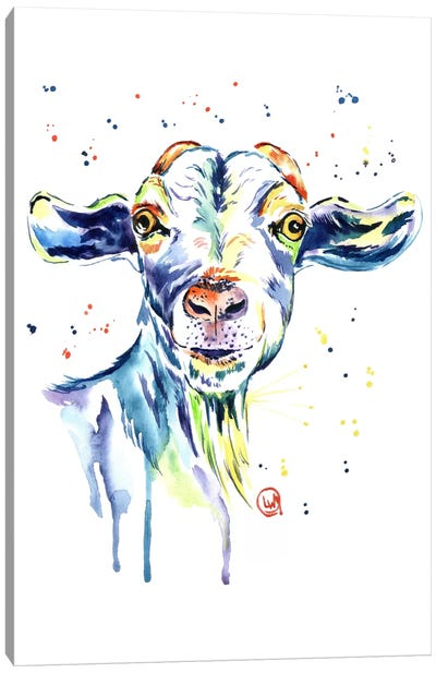 The Happy Goat Canvas Art Print