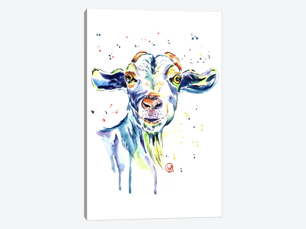 The Happy Goat by Lisa Whitehouse 1-piece Canvas Artwork