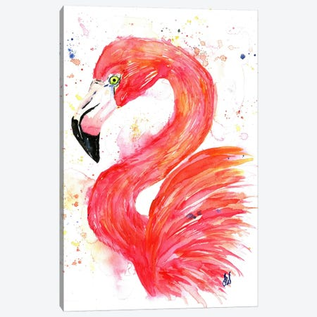Think Pink Canvas Print #LWH45} by Lisa Whitehouse Canvas Print