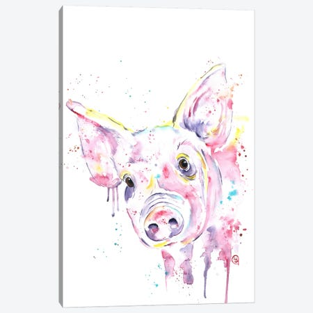 This Little Piggy Canvas Print #LWH46} by Lisa Whitehouse Canvas Print