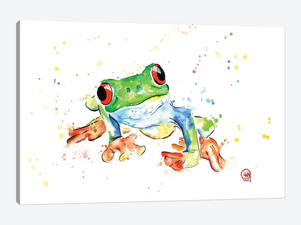 Tree Frog by Lisa Whitehouse 1-piece Canvas Art