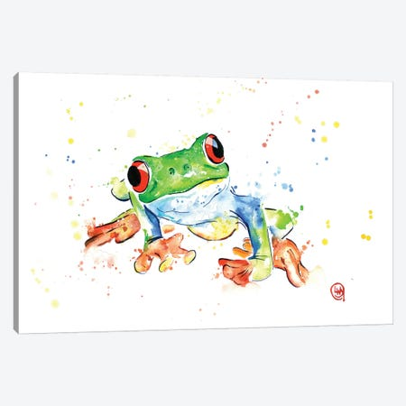 Tree Frog Canvas Print #LWH47} by Lisa Whitehouse Art Print