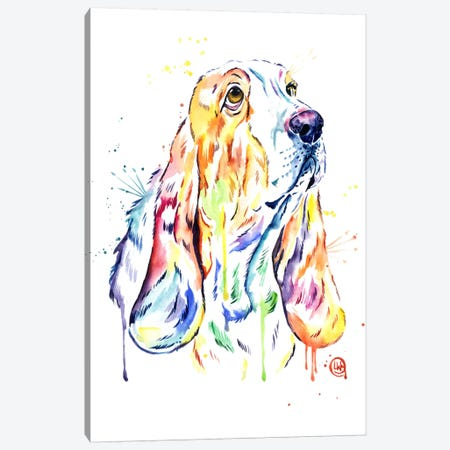 Basset Hound Canvas Print #LWH4} by Lisa Whitehouse Canvas Print