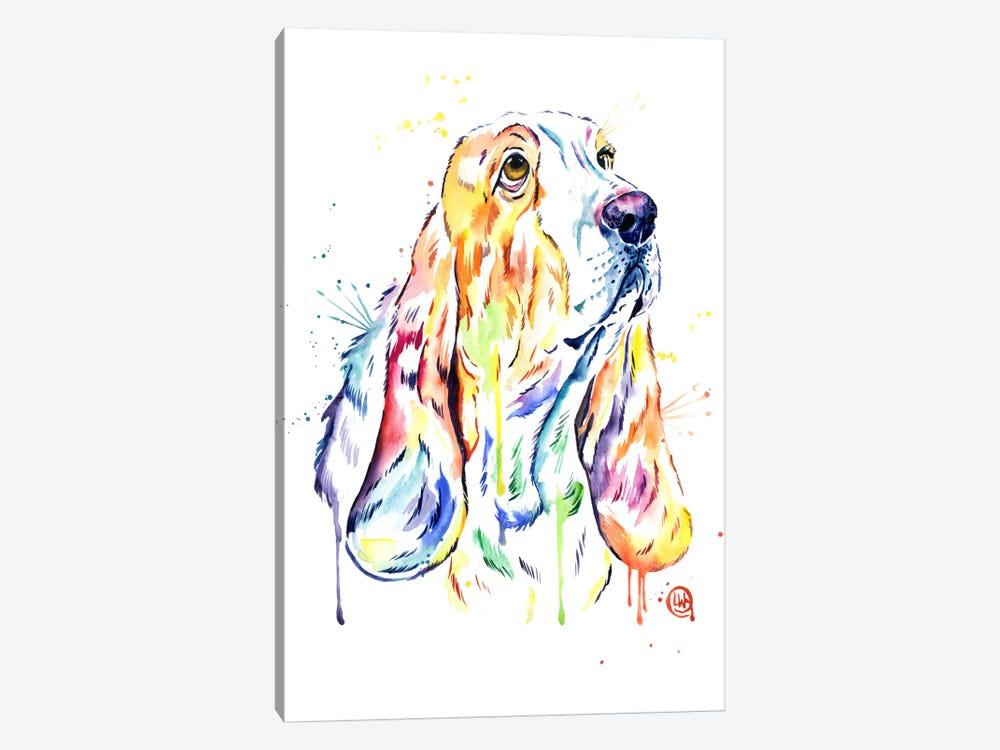 Basset Hound by Lisa Whitehouse 1-piece Canvas Artwork