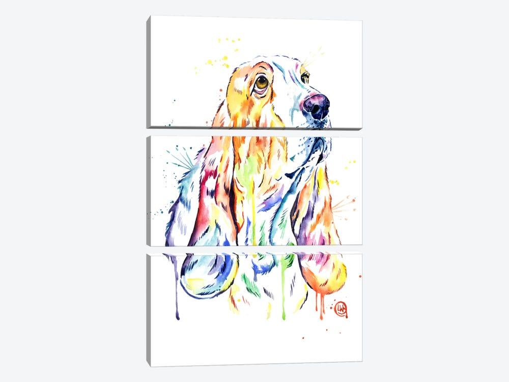 Basset Hound by Lisa Whitehouse 3-piece Canvas Artwork