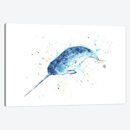 Unicorn Of The Sea Canvas Print #LWH50} by Lisa Whitehouse Canvas Art Print