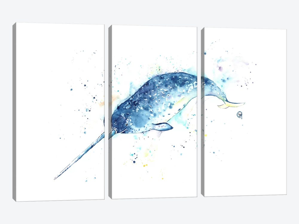 Unicorn Of The Sea by Lisa Whitehouse 3-piece Canvas Art