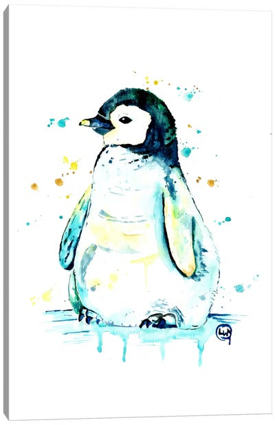 Waddle Canvas Art Print