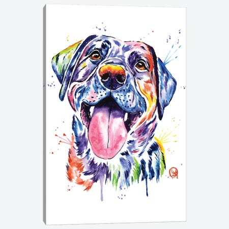Black Lab Canvas Print #LWH53} by Lisa Whitehouse Canvas Print