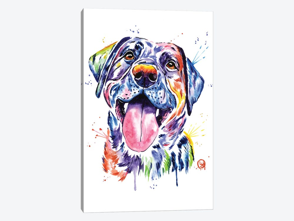 Black Lab by Lisa Whitehouse 1-piece Canvas Print