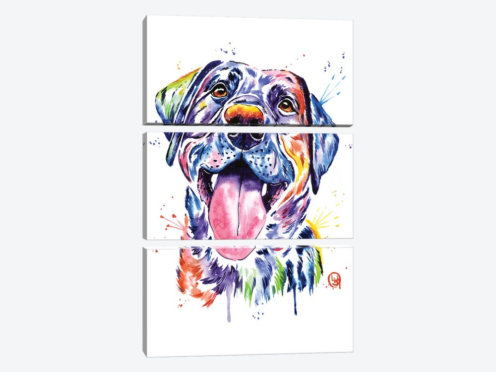 Black Lab by Lisa Whitehouse 3-piece Canvas Print