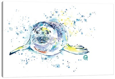 Emil The Seal Canvas Art Print