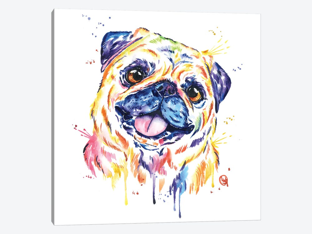 Fawn Pug by Lisa Whitehouse 1-piece Canvas Art Print