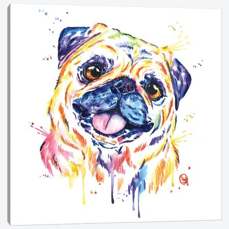 Fawn Pug Canvas Print #LWH55} by Lisa Whitehouse Canvas Art