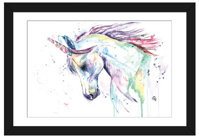 Kenzie's Unicorn Framed Art Print