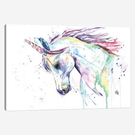 Kenzie's Unicorn Canvas Print #LWH56} by Lisa Whitehouse Canvas Wall Art